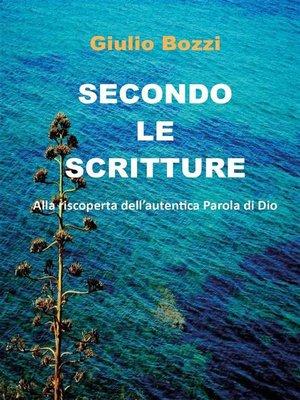 cover image of Secondo le scritture
