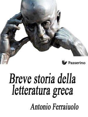 cover image of Breve storia della letteratura greca