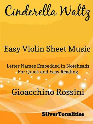 cover image of Cinderella Waltz Easy Violin Sheet Music