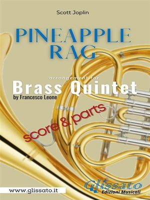 cover image of Pineapple Rag-- Brass Quintet (parts & score)