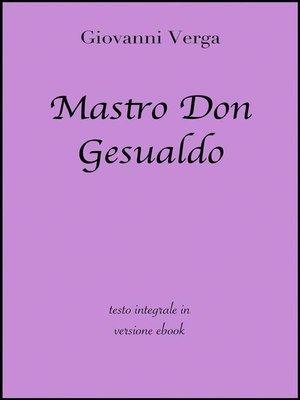 cover image of Mastro Don Gesualdo di Giovanni Verga in ebook