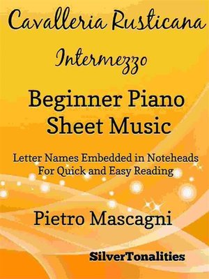 cover image of Cavalleria Rusticana Beginner Piano Sheet Music