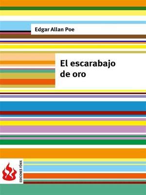 cover image of El escarabajo de oro (low cost). Edición limitada