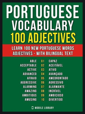 cover image of Portuguese Vocabulary--100 Adjectives