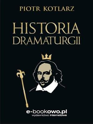 cover image of Historia dramaturgii