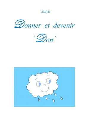 cover image of Donner et devenir 'Don'