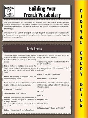 cover image of French Vocabulary (Blokehead Easy Study Guide)