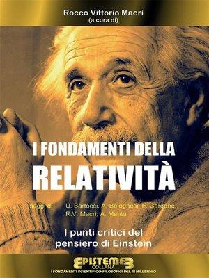 cover image of I fondamenti della Relatività