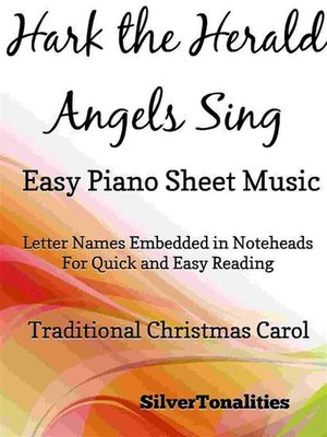cover image of Hark the Herald Angels Sing Easy Piano Sheet Music
