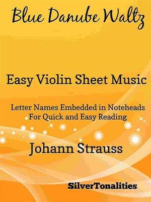 cover image of Blue Danube Waltz Easy Violin Sheet Music