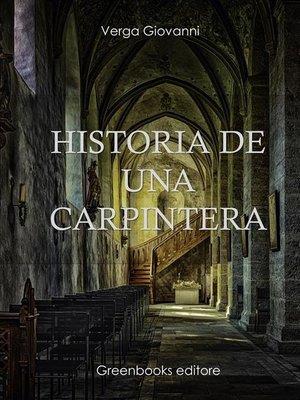 cover image of Historia de una carpintera