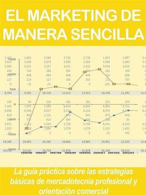 cover image of EL MARKETING DE MANERA SENCILLA. La guía práctica sobre las estrategias básicas de mercadotecnia profesional y orientación comercial