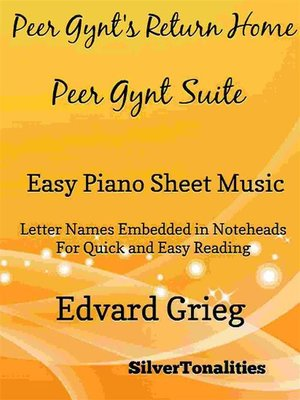 cover image of Peer Gynt's Return Home Peer Gynt Suite Easy Piano Sheet Music