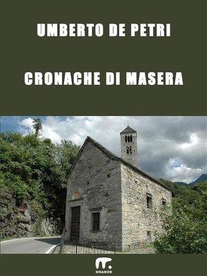 cover image of Cronache di Masera