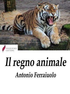 cover image of Il regno animale