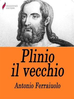 cover image of Plinio il vecchio