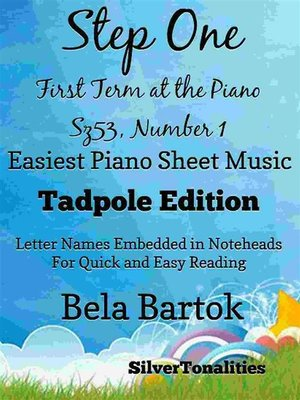 cover image of Step One First Term at the Piano Sz53 Number 1 Easiest Piano Sheet Music