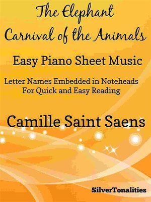 cover image of The Elephant Carnival of the Animals Easy Piano Sheet Music