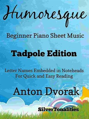 cover image of Humoresque Beginner Piano Sheet Music
