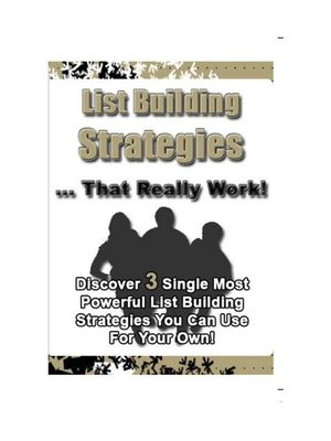 cover image of List Building Strategies That Really Work