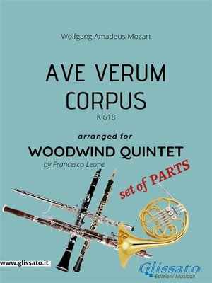 cover image of Ave Verum (Mozart)--Woodwind Quintet set of PARTS