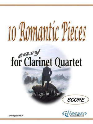 cover image of 10 Romantic Pieces for Clarinet Quartet (SCORE)