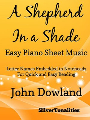 cover image of A Shepherd in a Shade Easy Piano Sheet Music