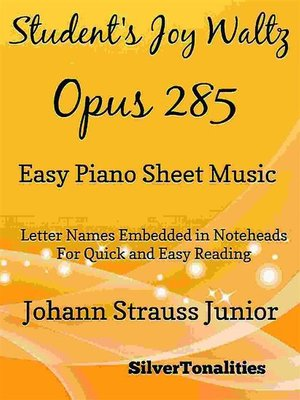 cover image of Student's Joy Waltz Opus 285 Easy Piano Sheet Music