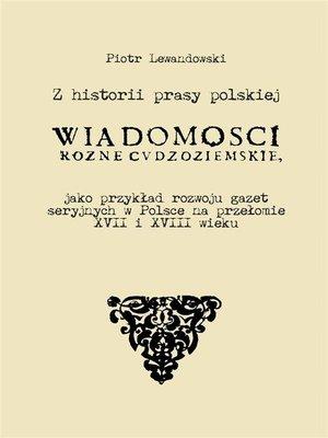cover image of Z historii prasy polskiej