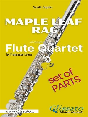 cover image of Maple Leaf Rag--Flute Quartet--Parts