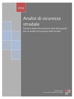 cover image of Analisi di sicurezza stradale