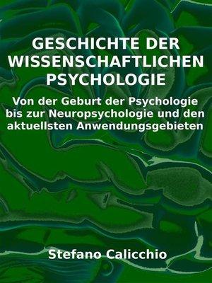cover image of Geschichte der wissenschaftlichen Psychologie