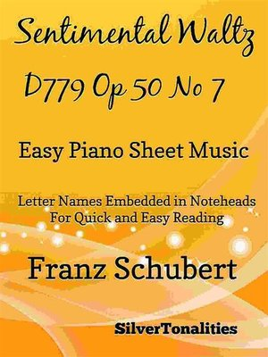 cover image of Sentimental Waltz Opus 50 Number 7 Easy Piano Sheet Music
