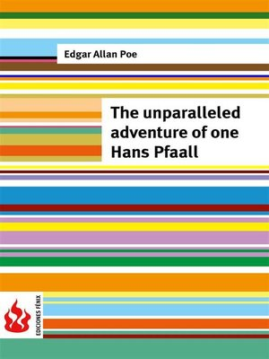 cover image of The unparalleled adventure of one Hans Pfaall (low cost). Limited edition