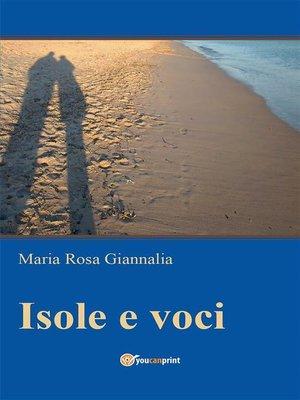 cover image of Isole e voci