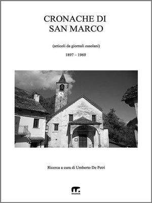 cover image of Cronache di San Marco