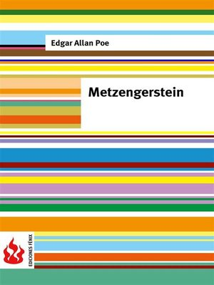 cover image of Metzengerstein (low cost). Limited edition