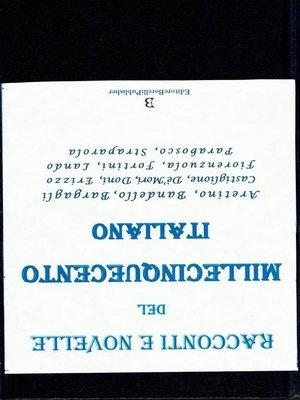 cover image of Racconti e Novelle del millecinquecento italiano 500