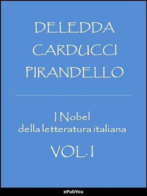 cover image of I Nobel della letteratura italiana