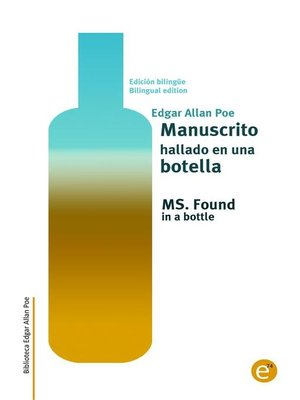 cover image of Manuscrito hallado en una botella/MS. Found in a bottle