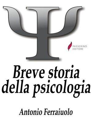cover image of Breve storia della psicologia