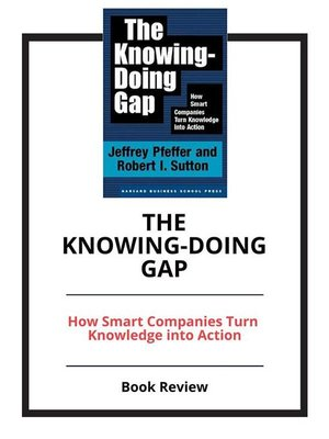 cover image of The Knowing-Doing Gap