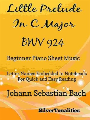 cover image of Little Prelude in C Major BWV 924 Beginner Piano Sheet Music