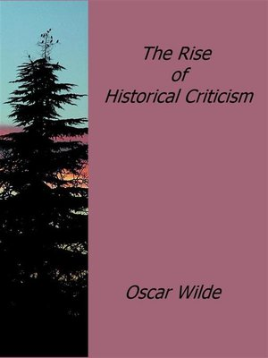 cover image of The Rise of Historical Criticism