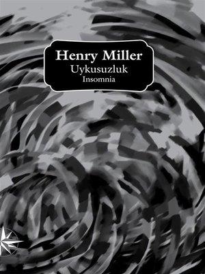 cover image of Uykusuzluk