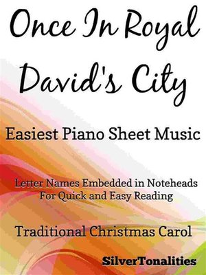 cover image of Once in Royal David's City Easiest Piano Sheet Music