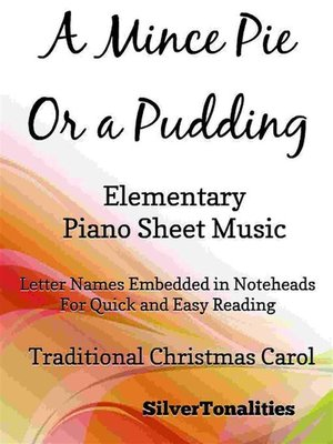 cover image of A Mince Pie or a Pudding Easy Elementary Piano Sheet Music