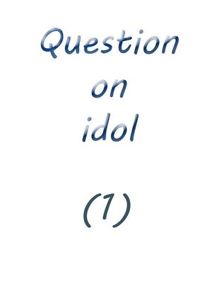 cover image of question on idol (1)