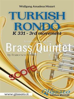 cover image of Turkish Rondò--Brass Quintet (score)