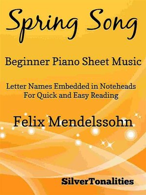 cover image of Spring Song Beginner Piano Sheet Music